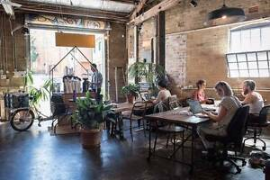 Co-Working Desk Space in Collaborative Creative Warehouse Office Erskineville Inner Sydney Preview