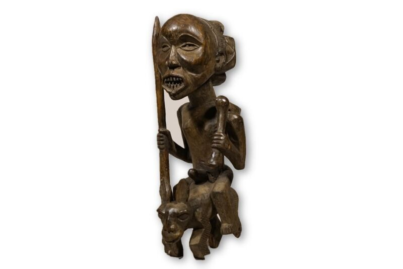 "Luba African Figure / Statue 36"" - DRC"