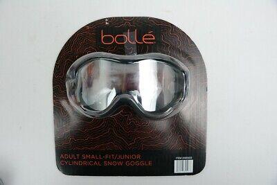 Bolle Adult Small Fit Junior Cylindrical Ski Snow Goggle Black 20005 (NJL017548) Junior Ski Goggle
