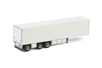 WSI MODELS WHITE LINE BOX TRAILER 3 AXLE WHITE 03-2034