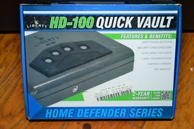 Liberty Security Gun Valuables Safe HD-100 Home Defender in Box