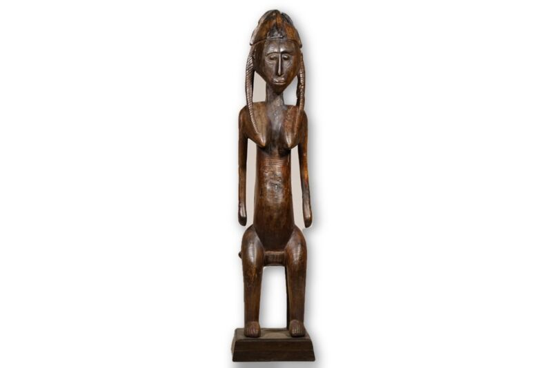 "Exquisite Bamana Maternity Figure 47"" on base - Mali"