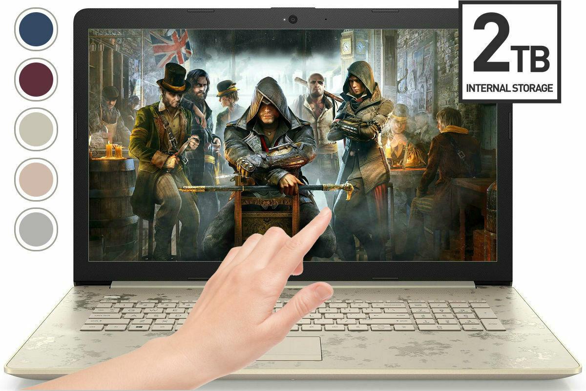Laptop Windows - HP 15.6 HD TOUCHSCREEN 2TB HD 8GB Ram 3.70GHz AMD DualCore DVD+RW Windows Laptop