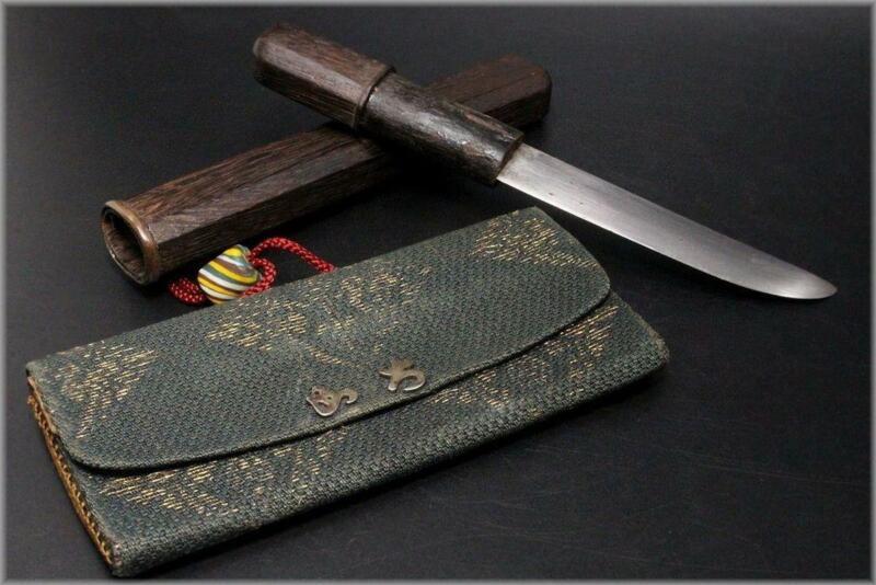 WG68 FINE Japanese Quite short sword & tobacco case menuki ojime ball #tsuba