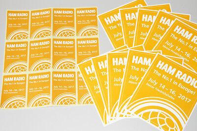 HAM Radio 2017 10 Aufkleber groß 12 Aufkleber klein NEU wie abgebildet Kleine Ham Radio