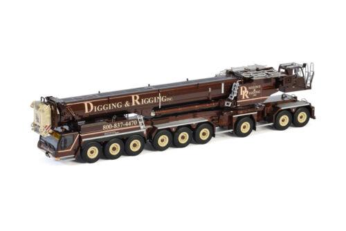 WSI 51-2067 Liebherr LTM 1750-9.1 9-axle Mobile Crane Digging & Rigging 1:50