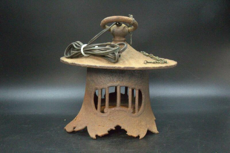 Japanese Antique temple Hanging lantern Buddhism Iron BT163