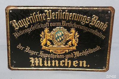 Altes Original BLECHSCHILD Bayerische Versicherungs-Bank München AG VERSICHERUNG