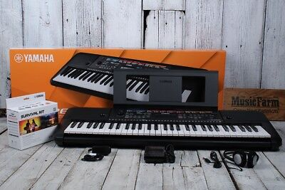 Yamaha PSRE263 61 Key Portable Keyboard with 400 Voices and SK B2 Survival Kit for sale  Shipping to India