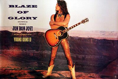 Bon Jovi 1990 Blaze Of Glory Original Promo Poster