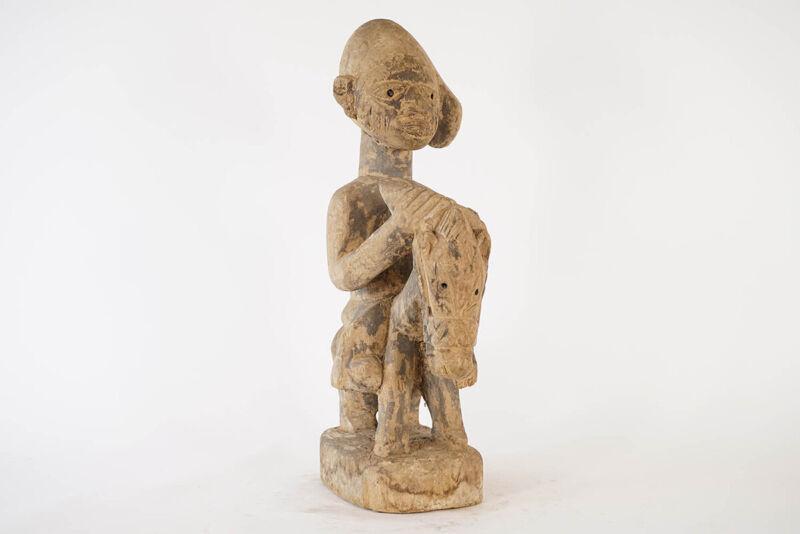 "Yoruba Horse & Rider Statue 22.5"" - Nigeria - African Art"