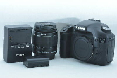 Canon EOS 7D 18MP Digital SLR Camera w/ 18-55mm II Lens (ny475)