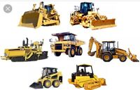 Wanted operator with heavy machinery