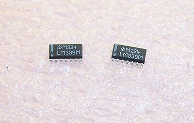Qty 57 Lm339m Nsc Soic-14 Smd Quad Voltage Comparator Nos 1 Tube