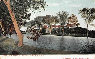 THE INSANE ASYLUM Phoenix, Arizona Mental Hospital ca 1907 Vintage Postcard for sale  Shipping to Canada