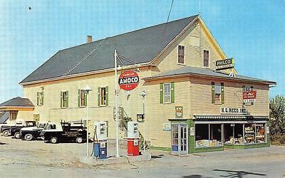 Southwest Harbor Me H  G  Reed General Store Amoco Gas Station Trucks Postcard