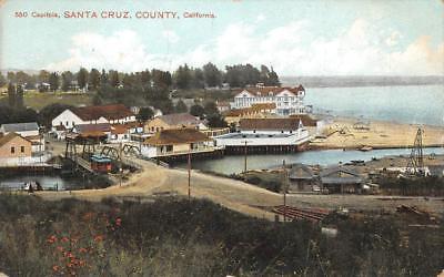 Capitola  Ca Santa Cruz County  California Monterey Bay 1908 Vintage Postcard