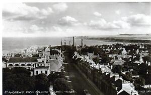 St-Andrews-from-College-sepia-unused-RP-old-postcard-1934-Valentines