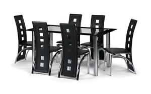 Good Glass Dining Table And 8 Chairs