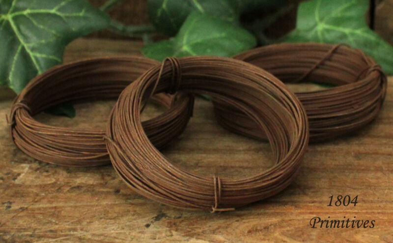 3 rolls ~ 24 gauge Rusty Tin Wire ~ 150 feet total ~  EASY to bend