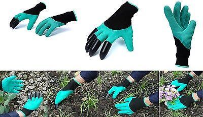 1 Paar Garten Handschuhe mit 4 Krallen Arbeitshandschuhe Wasserdicht Stichsicher