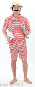 MENS ADULT VICTORIAN BATHER 1920s SWIMSUIT SWIM SUIT BEACH FANCY DRESS COSTUME  eBay