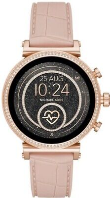 Michael Kors Access Sofie Pink Rose Gold Smart Watch MKT5068 Brand New.
