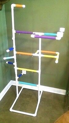 "PVC Parrot Play Gym ""MAX"" FLOOR PERCH  Stand **FREE SHIPPING**"
