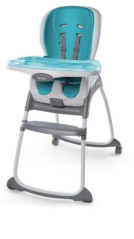 Ingenuity Trio Smart Clean High Chair (Aqua Blue 3-in-1) Excellent Condition