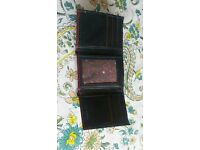 Ted Baker Leather Wallet Black and Red