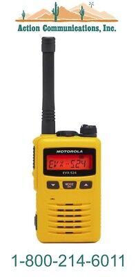 New Motorola Evx-s24 Uhf 403-470 Mhz 3 Watt 256 Ch Yellow 2-way Radio Sale