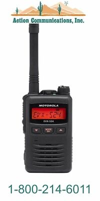 New Motorola Evx-s24 Uhf 403-470 Mhz 3 Watt 256 Ch Black 2-way Radio Sale2