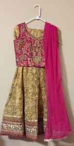 **Brand New Indian Lengha Pink and Gold**