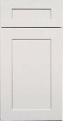 Shaker Light Gray Painted Kitchen Cabinets All wood, in stock Sample door-RTA