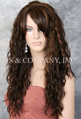 Super model Long HEAT SAFE Wavy Full Body Wig Brown Blonde mix HSP 4-27