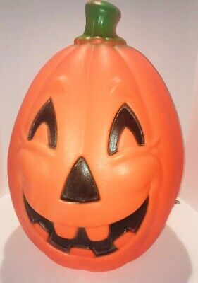 """Vintage Pumpkin Blow Mold; 21"""" H x 14"""" W Lighted, Tested/Works; Union Products"""