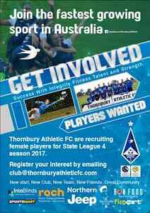 THORNBURY ATHLETIC FC ( Female soccer players wanted ). Reservoir Darebin Area Preview