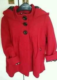 NEXT SIGNATURE RED COAT FOR AGES 3-4YRS