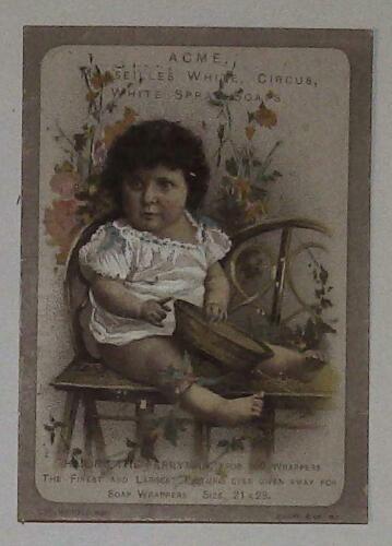 Acme Circus Marseilles Soap Lautz Bros Buffalo NY VTC Victorian Trade Card L