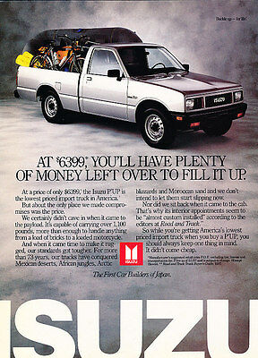 1987 Isuzu Pup Pickup Truck - 6399 - Classic Vintage Advertisement Ad A97
