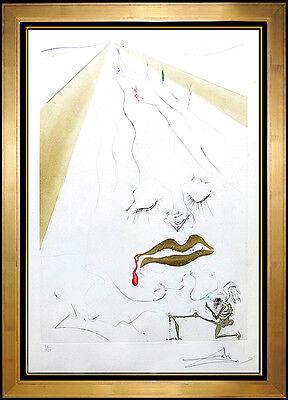 Salvador Dali Etching Authentic Original Artwork HAND SIGNED Transfiguration SBO