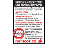 Norscot Joinery - Part & Full Time Sales People, Office/Warehouse Trainee, Window Fitters