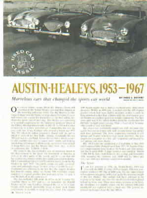 AUSTIN HEALEY  ***ORIGINAL ARTICLE*** RARE!!!