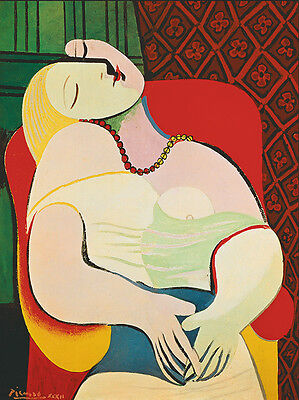 Used, Pablo Picasso The Dream Giclee Canvas Print Paintings Poster Reproduction Copy for sale  Shipping to Canada