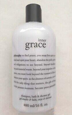 Brand New Philosophy INNER GRACE Shampoo Bath Shower Gel 480 ml / 16 fl oz HTF