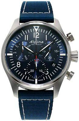 Alpina Startimer Pilot Quartz Movement Blue Dial Men's Watch AL-371NN4S6