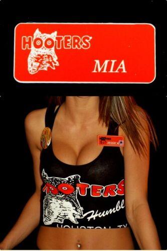 Mia Hooters Girl Uniform Name Tag Pin Halloween Costume Accessory *