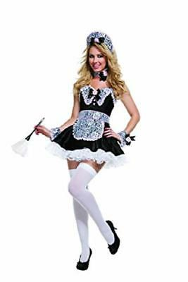 NEW STARLINE SEXY ROSE FRENCH MAID DELUXE WOMENS HALLOWEEN COSTUME S SM T2614