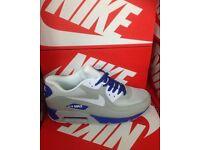 NIKE AIR MAX 90 (Grey/White/Blue)