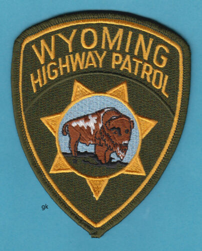 WYOMING HIGHWAY PATROL  POLICE SHOULDER PATCH  buffalo bison